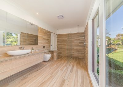 Inside bathroom of Mt Martha extension and renovation